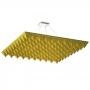 Купить акустическая подвесная звукопоглощающая панель ecosound quadro pyramid yellow. 50мм 1х1м цвет жёлтый по низкой цене