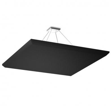 Купить акустическая подвесная звукопоглощающая панель ecosound quadro black. 70мм 1х1м цвет черный графит по низкой цене