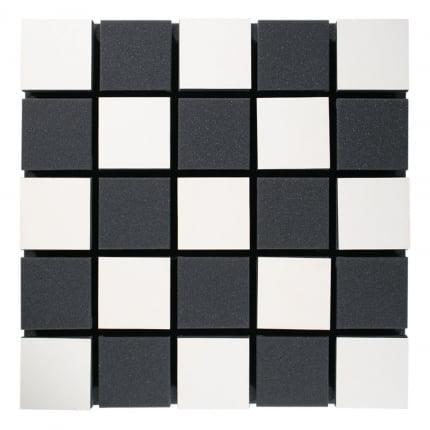 Превью Акустическая панель Ecosound Tetras Acoustic Wood White 50x50см цвет белый