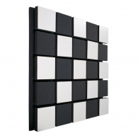 Акустическая панель Ecosound Tetras Acoustic Wood White 50x50см 53мм цвет белый