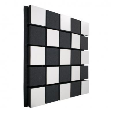 Купить акустическая панель ecosound tetras acoustic wood white 50x50см 73мм цвет белый по низкой цене