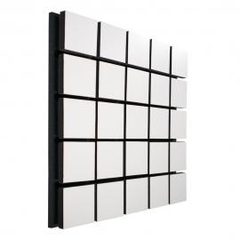 Акустическая панель Ecosound Tetras Wood White 50x50см 53мм цвет белый