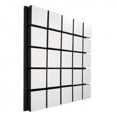 Купить акустическая панель ecosound tetras wood white 50x50см 53мм цвет белый по низкой цене