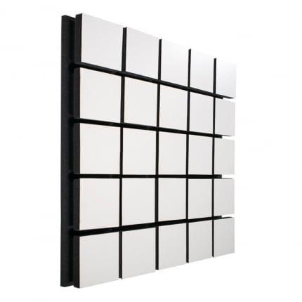 Акустическая панель Ecosound Tetras Wood White 50x50см цвет белый