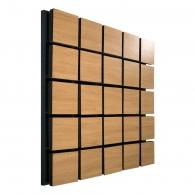 Акустическая панель Ecosound Tetras Wood Cream 50x50см 53мм цвет светлый дуб
