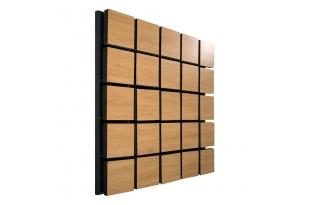 Акустическая панель Ecosound Tetras Wood Cream. 50x50см цвет светлый дуб