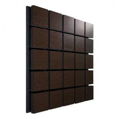 Купить акустическая панель ecosound tetras wood brown 50x50см 33мм цвет коричневый по низкой цене
