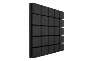 Панель из акустического поролона Ecosound Tetras Black 50x50см, 30мм, цвет чёрный графит