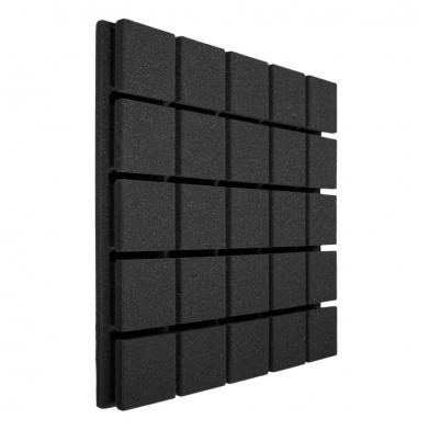 Купить панель из акустического поролона ecosound tetras black 50x50см, 30мм, цвет чёрный графит по низкой цене