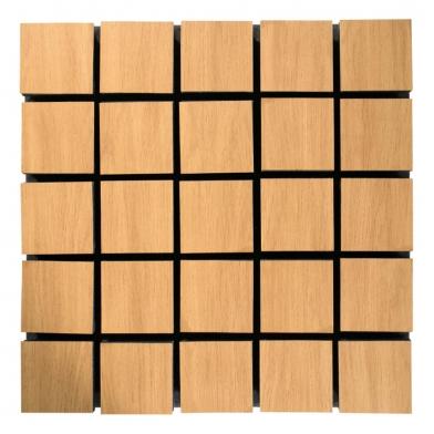 Купить акустическая панель ecosound tetras wood cream 50x50см 53мм цвет светлый дуб по низкой цене