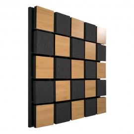 Акустическая панель Ecosound Tetras Acoustic Wood Cream 50x50см 53мм цвет светлый дуб