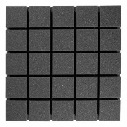 Превью Панель из акустического поролона Ecosound Tetras Black 50x50см, 53мм, цвет чёрный графит