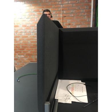 Купить акустическая ширма для офисных столов ecosound quadro screen grey 100х50 см 50мм цвет серый по низкой цене