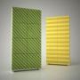 Превью Акустическая ширма Ecosound Acoustic Wave color 200х100 цвет зеленый