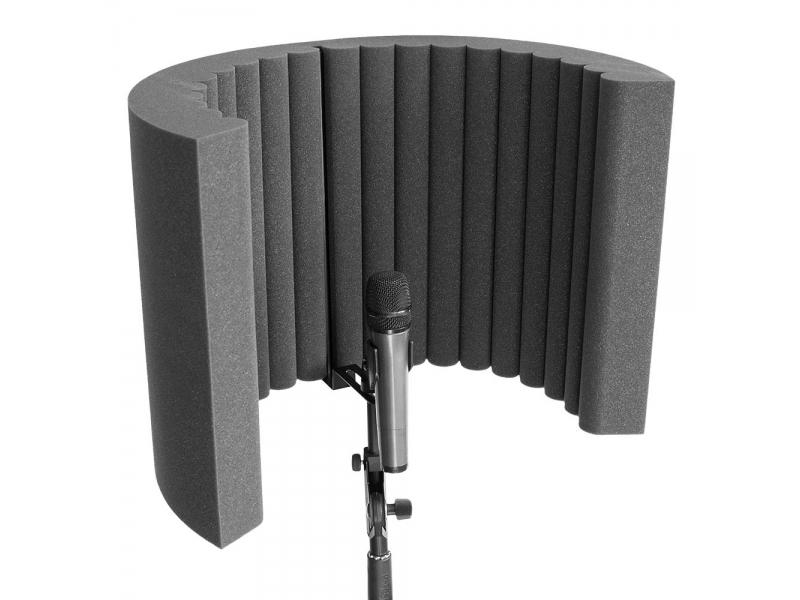 Акустический экран для микрофона Ecosound Ecos Wave 53х40см 80мм цвет черный графит