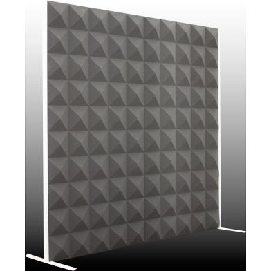 Купить акустическая ширма ecosound acoustic pyramid 200х200 см цвет черный графит по низкой цене