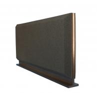 Настольная акустическая ширма для офисных столов Ecosound Trapeze screen 1200 х 600 Черный Графит
