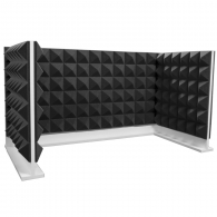 Комплект акустических ширм на стол для колл-центров Ecosound Pyramid Gray U-TYPE 120х60 см + 60х60 см серый