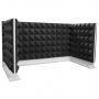 Купить комплект акустических ширм на стол для колл-центров ecosound pyramid gray u-type 120х60 см + 60х60 см серый по низкой цене