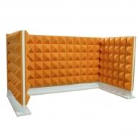 Комплект акустических ширм на стол для колл-центров Ecosound Pyramid Orange U-TYPE 120х60 см + 60х60 см оранжевый