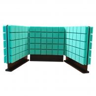 Комплект акустических ширм на стол для колл-центров Ecosound Tetras Green 60х60 см зеленый 3 шт.