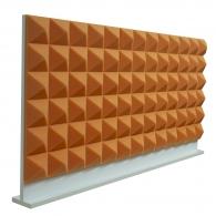 Настольная акустическая ширма для офисных столов Ecosound Pyramid Orange 1200 х 600 оранжевая
