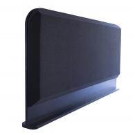 Настольная акустическая ширма для офисных столов Ecosound Rounded screen 1200 х 600 Черный Графит
