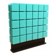 Настольная акустическая ширма для офисных столов Ecosound Tetras Green 600 х 600 зеленая
