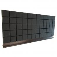 Настольная акустическая ширма для офисных столов Ecosound Tetras screen 1200 х 600 Черный Графит
