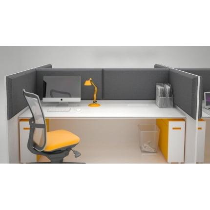 Превью Акустическая ширма для офисных столов Ecosound Quadro Screen grey 100х50 см 50мм цвет серый