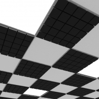 Акустическая плита для подвесных потолочных систем  Ecosound Tetras Strong 600х600х20мм black
