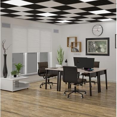 Купить акустическая плита для подвесных потолочных систем  ecosound tetras strong 600х600х20мм black по низкой цене