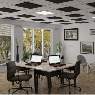 Купить акустическая плита для подвесных потолочных систем типа армстронг ecosound tetras armstrong 600х600х30мм gray по низкой цене