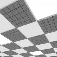 Акустическая плита для подвесных потолочных систем  Ecosound Tetras Strong 600х600х20мм gray