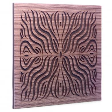 Акустическая панель Ecosound Chimera F Venge Contrast 50x50см 53мм Цвет коричневый в полоску