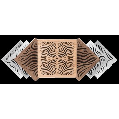 Купить акустическая панель ecosound chimera f light 50х50 см 53мм  цвет латте по низкой цене