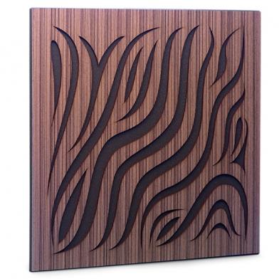 Купить акустическая панель ecosound chimera venge contrast 50x50см 53мм цвет коричневый в полоску по низкой цене