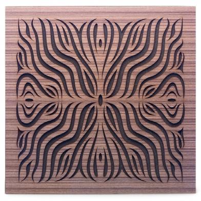 Купить акустическая панель ecosound chimera f venge contrast 50x50см 33мм цвет коричневый в полоску по низкой цене
