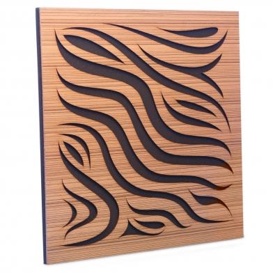 Купить акустическая панель ecosound chimera zebrano 50x50см 33мм цвет крем по низкой цене