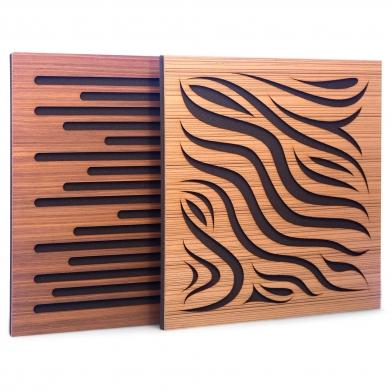 Купить акустическая панель ecosound chimera venge contrast 50x50см 73мм цвет коричневый в полоску по низкой цене