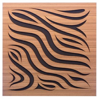 Купить акустическая панель ecosound chimera zebrano 50x50см 53мм цвет крем по низкой цене