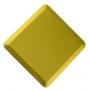 Купить акустическая панель ecosound cinema acoustic yellow 50х50 см цвет желтый по низкой цене