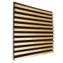 Купить акустическая панель ecosound comb wood sonoma 100x100см 50мм цвет светлый дуб по низкой цене
