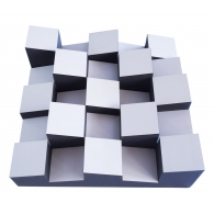 Акустический диффузор-рассеиватель Ecosound EcoDIFF foam white 150мм,50х50 см цвет белый