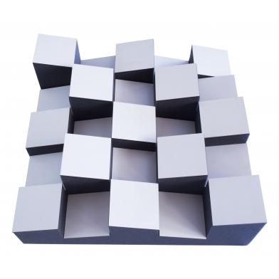 Купить акустический диффузор-рассеиватель ecosound ecodiff foam white 150мм,50х50 см цвет белый по низкой цене