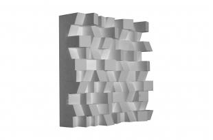 Акустический диффузор-рассеиватель Ecosound EcoDIFF White 150мм,50х50 см цвет белый