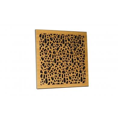 Купить акустическая панель ecosound ecoart cream 50х50 см 73мм светлый  дуб по низкой цене