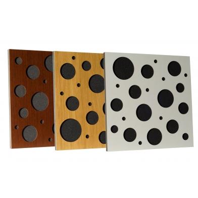 Купить акустическая панель ecosound ecobubble cream 50х50 см 33мм цвет светлый  дуб по низкой цене