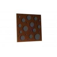 Акустическая панель Ecosound EcoBubble brown 50х50 см 53мм цвет коричневый