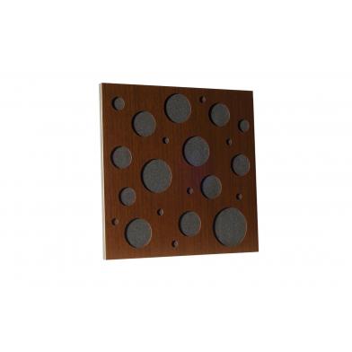 Купить акустическая панель ecosound ecobubble brown 50х50 см 53мм цвет коричневый по низкой цене